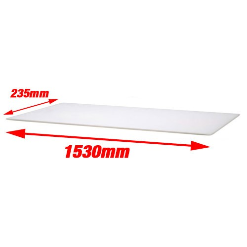 Fischer Miscellanous Catering For Sale - White Pizza Prep Cutting Board 1530x235